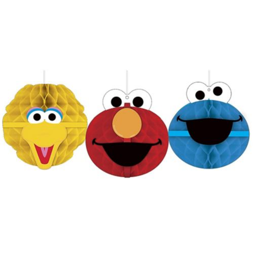 Sesame Street Honeycomb Decorations, 3-pk Product image