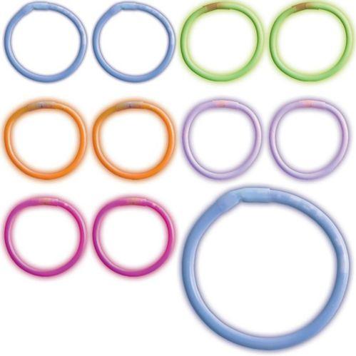 Bracelets lumineux multicolores, paq. 180