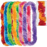 Colourful Two-Tone Fringe Leis, 6-pk | Amscannull