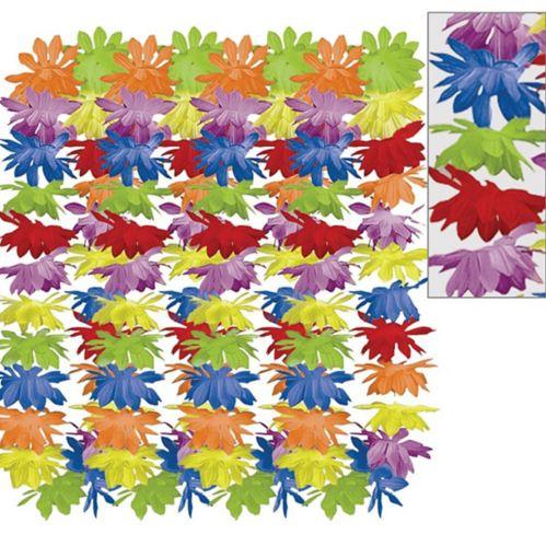 Rainbow Floral Leis, 25-pk