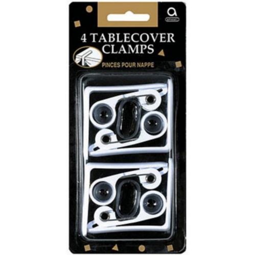 White Table Cover Clamps, 4-pk