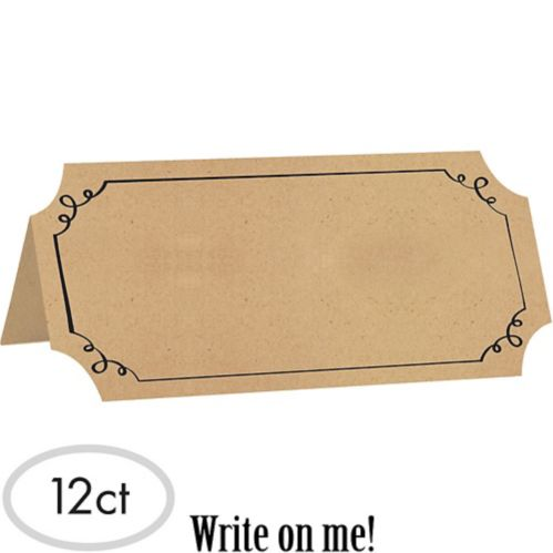 Kraft Paper Place Cards, 25-pk Product image