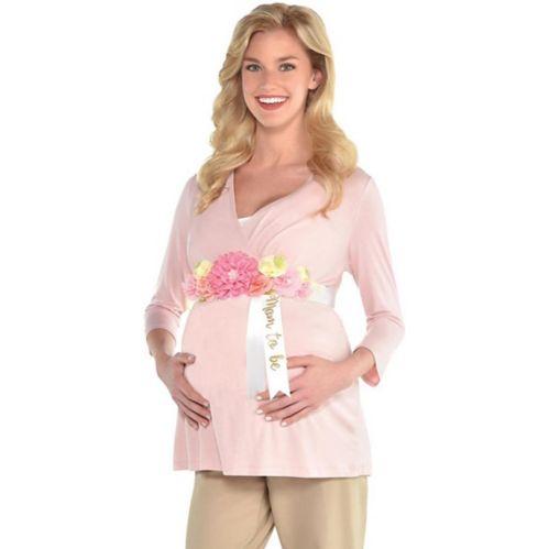 Écharpe florale à ruban Mom-to-Be pour fête prénatale