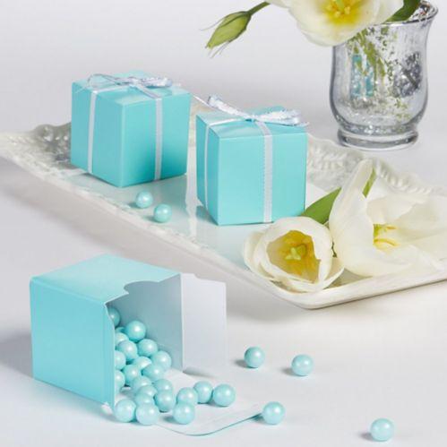 Robin's Egg Wedding Favour Boxes, 100-pk