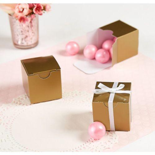 Boîtes-cadeaux d'invités de mariage, or, paq. 100