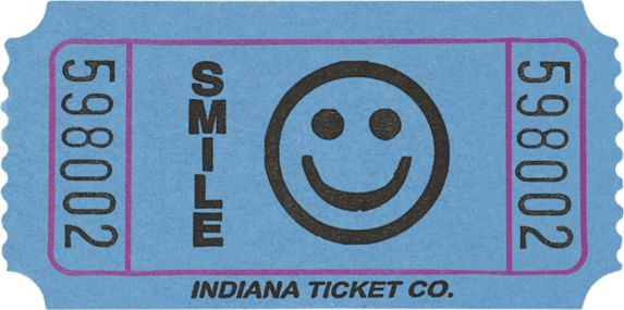 Smiley Ticket Roll, 1000-pk Product image