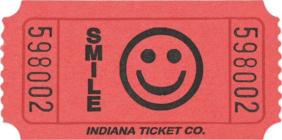 Smiley Ticket Roll