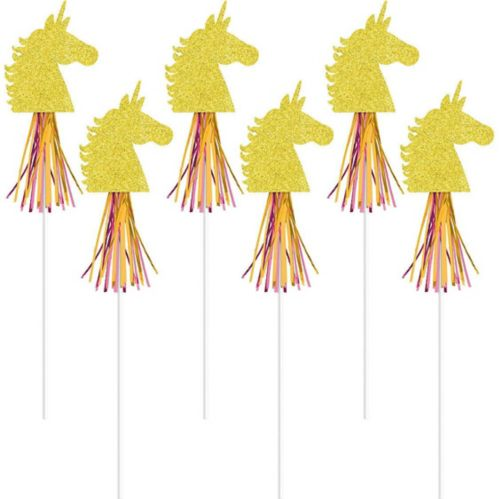 Glitter Magical Unicorn Wands, 6-pk