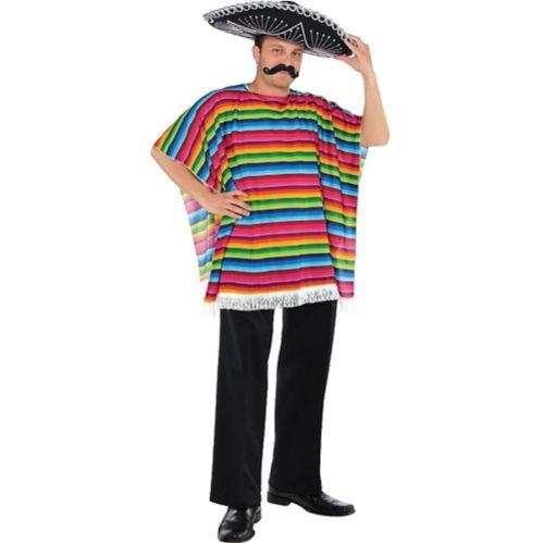Sarape de fiesta multicolore