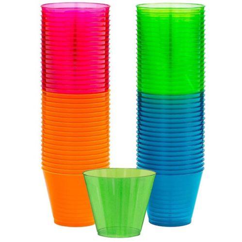 Big Party Pack Neon Plastic Tumblers, 72-pk