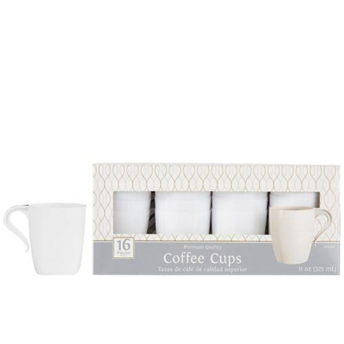 Premium Plastic Coffee Mugs, 12-pk