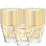 Metallic Bachelorette Party Plastic Cups, 30-pk