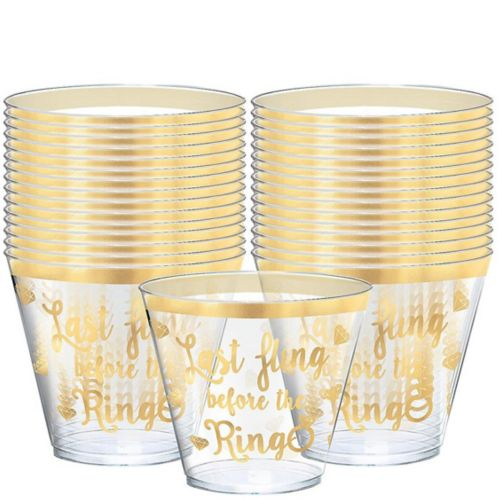 Metallic Bachelorette Party Plastic Cups, 30-pk Product image