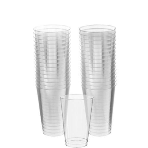 Gobelets en plastique transparent pour grosse fête, paq.32