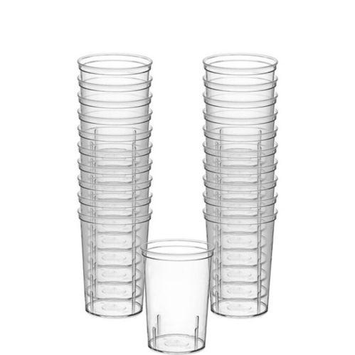Verres à liqueur en plastique transparent pour grosse fête, paq. 20