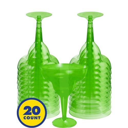 Plastic Margarita Glasses, 20-pk