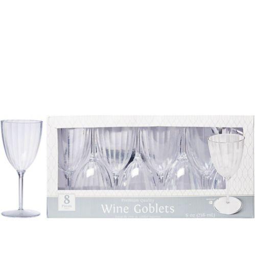 Verres à vin en plastique transparent de qualité supérieure, paq. 8