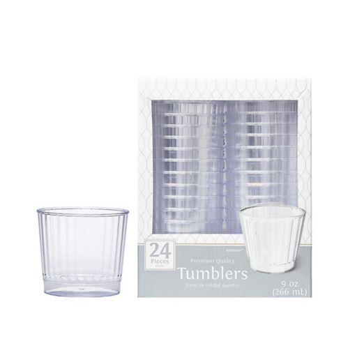 Clear Premium Plastic Cups, 24-pk