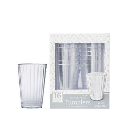 Verres plastique transparent de qualité, 12oz, paq. 16 Image de l'article