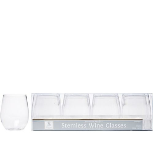 Verres à vin sans pied en plastique transparent de qualité supérieure, paq.8 Image de l'article