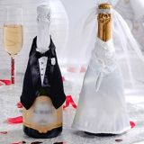 Wedding Celebration Champagne Bottle Covers, 3-pc