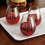 Mini-verres à vin sans pied en plastique transparent, paq. 10