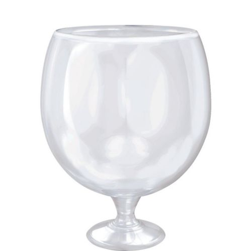 Giant Clear Plastic Cocktail Pedestal Bowl