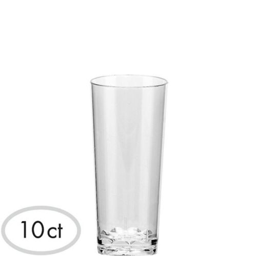 Mini Clear Plastic Cordial Glasses, 10-pk