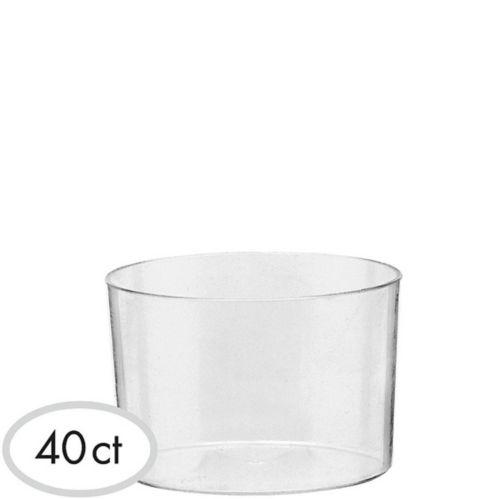 Mini Clear Plastic Bowls, 40-pk