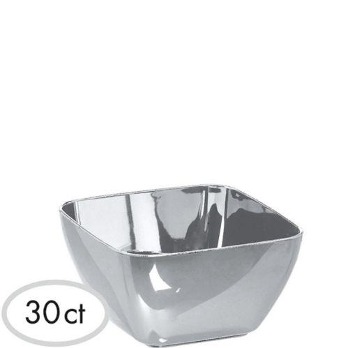 Mini Silver Finish Bowls, 30-pk