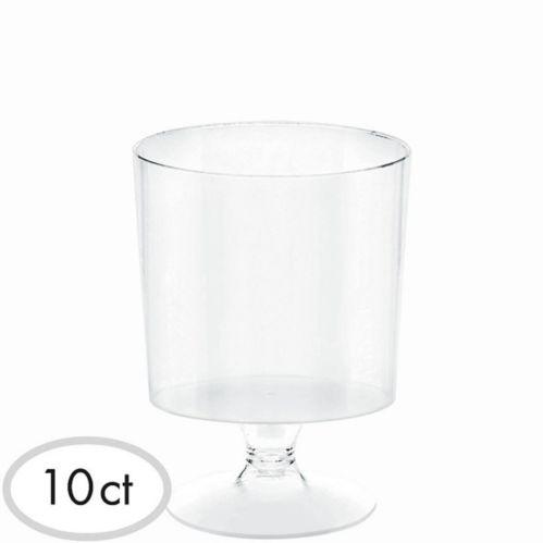 Mini Clear Plastic Pedestal Cups, 10-pk