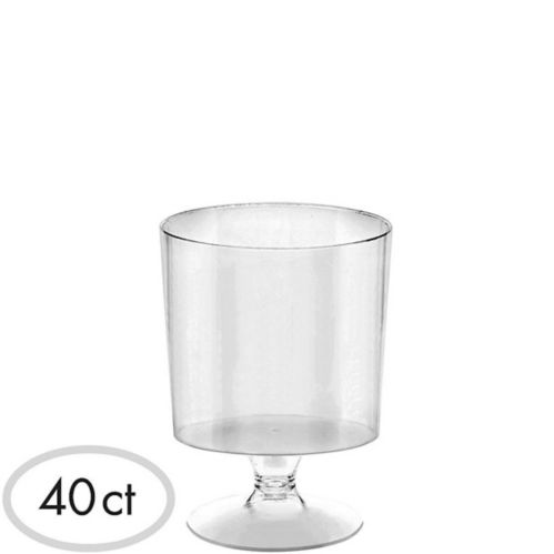 Mini Clear Plastic Footed Bowls, 40-pk Product image