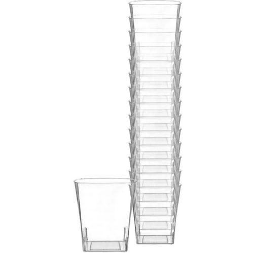 Clear Premium Plastic Square Cups, 14-pk