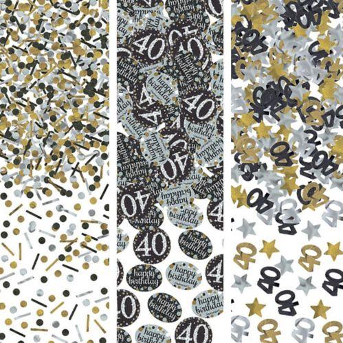 Confettis Célébration étincelante 40eanniversaire