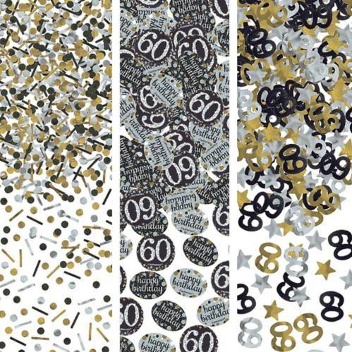 Confettis Célébration étincelante 60eanniversaire Image de l'article
