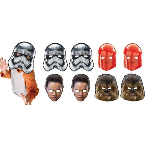 Star Wars 8: The Last Jedi Masks, 8-pk