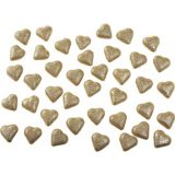 Glitter Gold Hearts Table Scatter, 40-ct