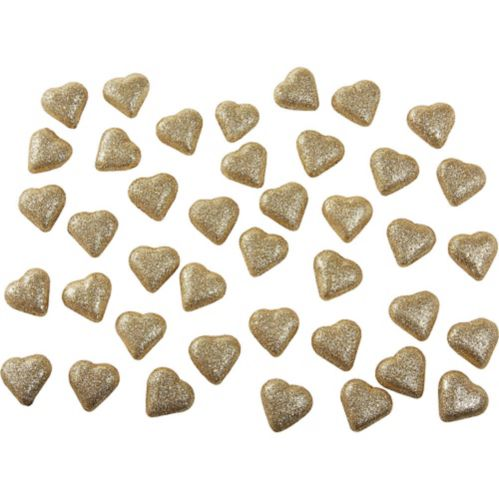Glitter Gold Hearts Table Scatter, 40-ct Product image