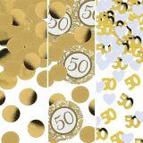 Confettis 50eanniversaire doré | Amscannull