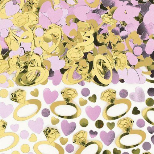 Confettis de mariage étincelants, rose