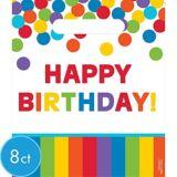 Rainbow Birthday Favour Bags, 8-pk