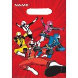 Power Rangers Ninja Steel Favour Bags, 8-pk