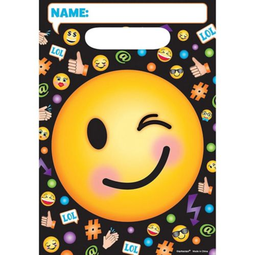 Smiley Favour Bags, 8-pk