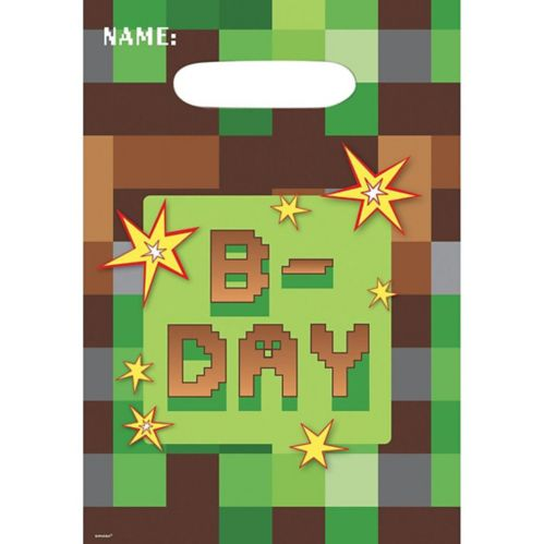 Pixelated Favour Bags, 8-pk