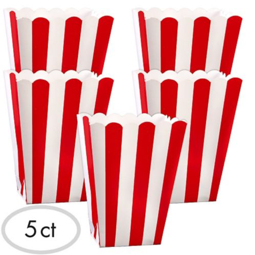 Popcorn Favour Boxes, 5-pk Product image
