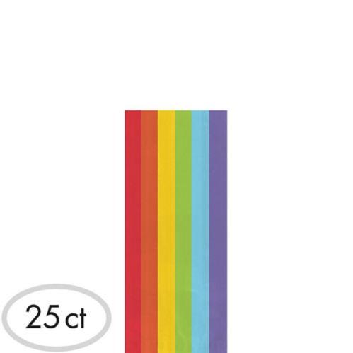 Small Rainbow Plastic Treat Bags, 25-pk