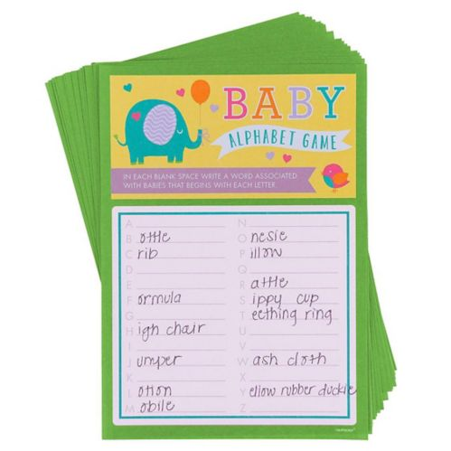 Alphabet Baby Shower Game