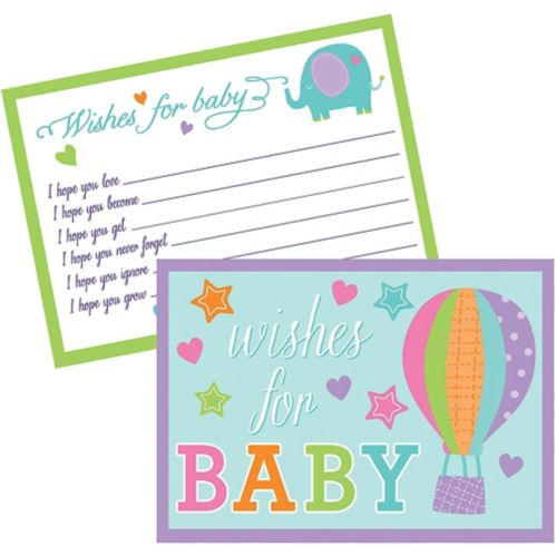 Baby Shower Wishes for Baby Cards, 24-pk