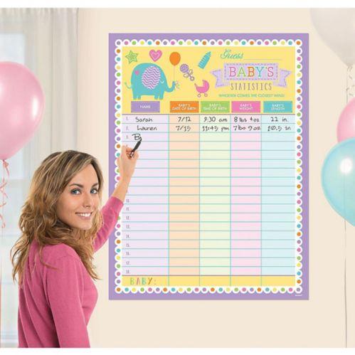 Jeu de fête prénatale Devinez les statistiques sur le bébé