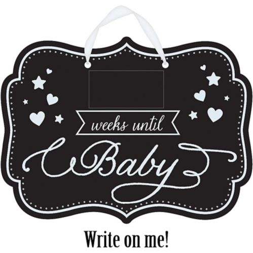 Baby Shower Baby Countdown Chalkboard Sign Product image
